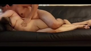 Horny hubby fucks his hindu wife like a bitch on sofa for some cash