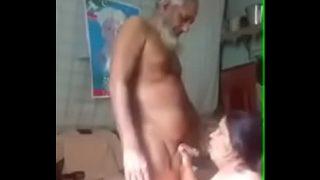 horny indian grandpa having hardcore fuck with big ass women